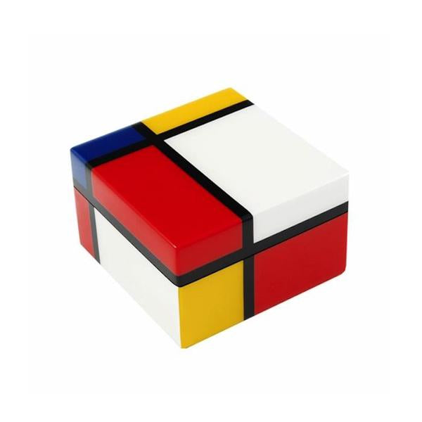 Mondrian Inspired Lacquer Wood Box