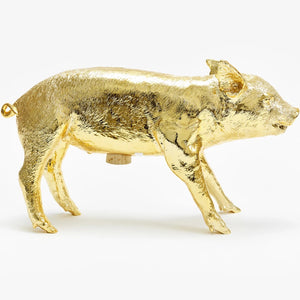 Areaware Reality Bank in the Form of a Pig Gold Chrome