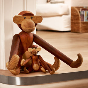 Monkey designed by Kay Bojesen made of teak and limba wood.