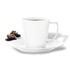 Rosendahl porcelain white coffee cup and saucer, holds 26cl.