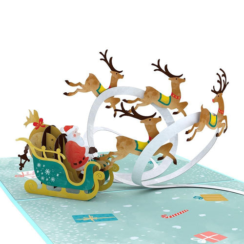 Lovepop Pop Up Greeting Card Santa Sleigh