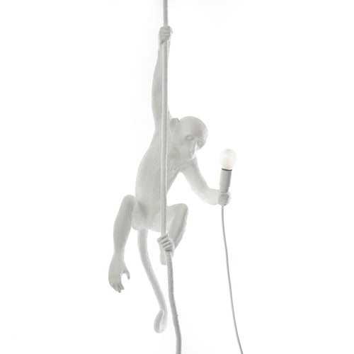 Seletti hanging from the ceiling monkey light, approx 31