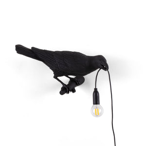 Seletti Bird Lamp Black Looking