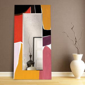 Glass Art Print Wall Mirror Finale