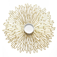 Chilewich Bloom Round Placemat Gilded