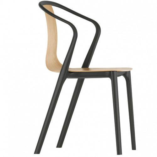 Vitra Belleville Armchair Wood Oak