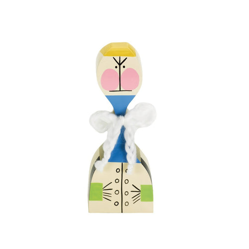 These hand painted wooden dolls made out of solid fir. The colorful design is inspired by Alexander Girard's home in Santa Fe.