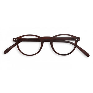 "IZIPIZI ""Dark Wood"" Limited Edition Color Reading Glasses, shape ""A"""