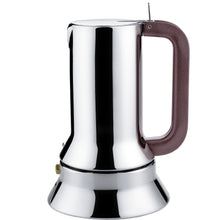 Espresso coffee maker in 18/10 stainless steel. Magnetic steel bottom suitable for Gas, Electric or Induction cooking.