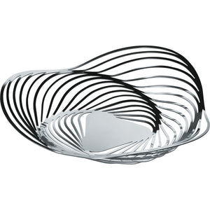 Stainless steel waves create a vortex in a concentric structure making an elegant centerpiece depicting movement.