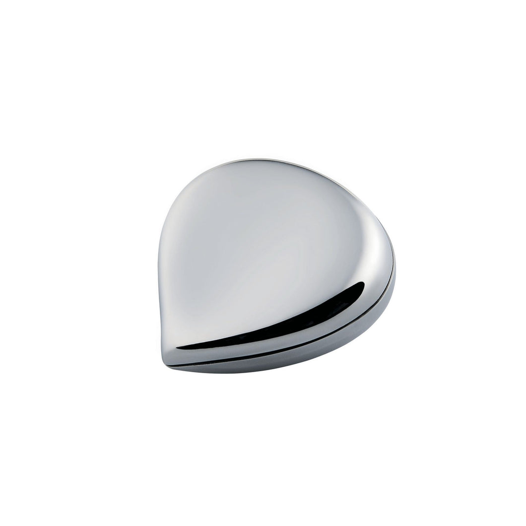 Alessi chestnut Pill box in 18/10 stainless steel mirror polished.