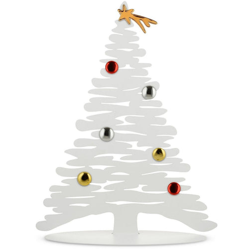 Alessi Bark for Christmas magnetic decorative tree in white epoxy resin, large version.