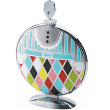 Folding cake stand in 18/10 stainless steel mirror polished with decoration.