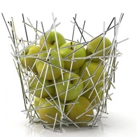 Citrus basket in 18/10 stainless steel mirror polished.