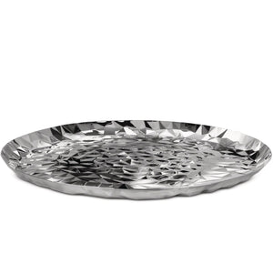 Alessi Joy Round tray in 18/10 stainless steel mirror polished