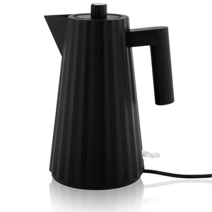 Alessi Plisse Electric Kettle in Thermoplastic Resin Black US Plug