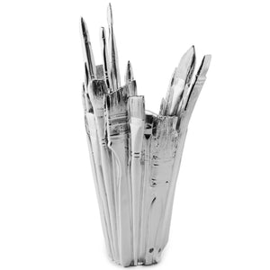 Areaware Brush Vase by Harry Allen Chrome