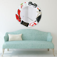 Glass Art Print Wall Mirror Boss Lady