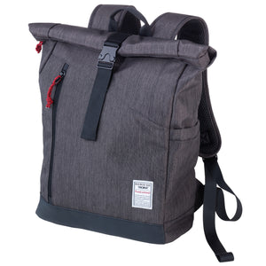 Troika Business Roll top backpack with metal buckle closure