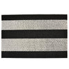 Chilewich Shag Bold Stripe Black and White Doormat