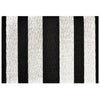 Chilewich Shag Bold Stripe Black and White Utility Mat