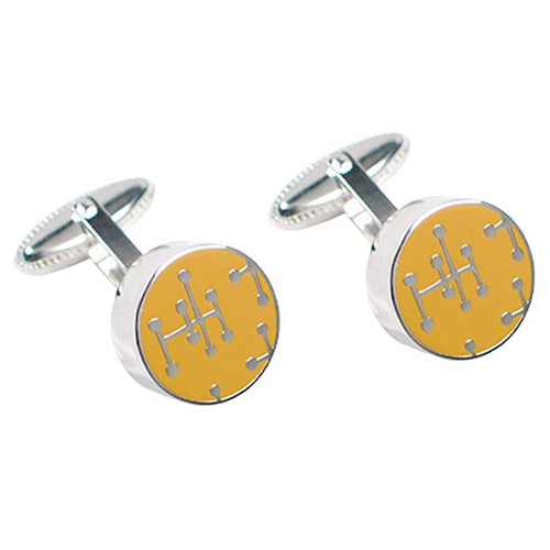 Cufflinks Dots Yellow by Charles and Ray Eames