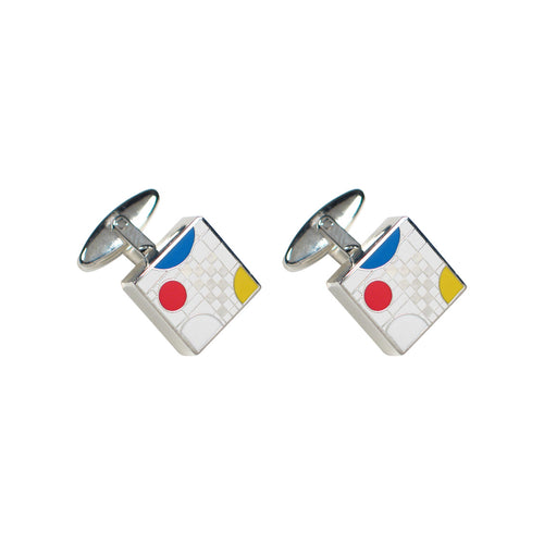 Cufflinks Coonley Playhouse by Frank Lloyd Wright White