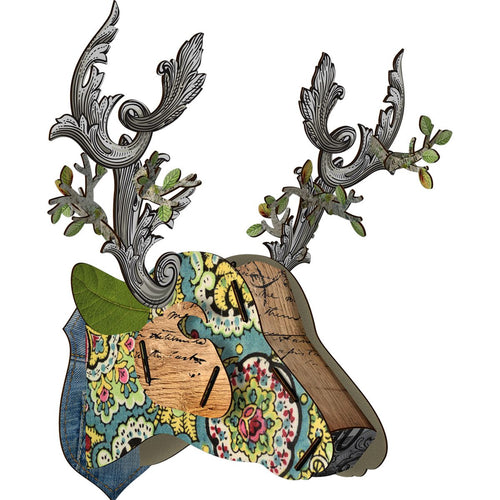 Miho Decorative Wall Sculpture Trophy Deer Head Emperor