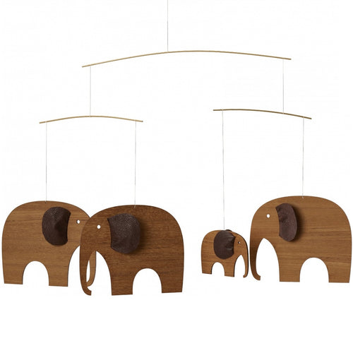 Flensted Mobile Elephant Party, Teak