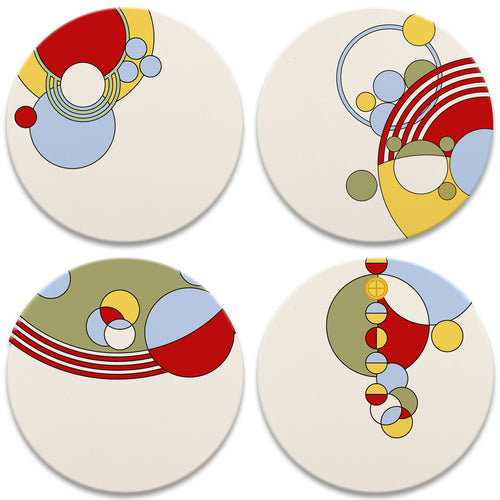 Frank Lloyd Wright Coasters Set. Cabaret Dinnerware.
