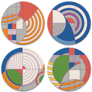 Frank Lloyd Wright Coasters Set. Hoffman Rug.