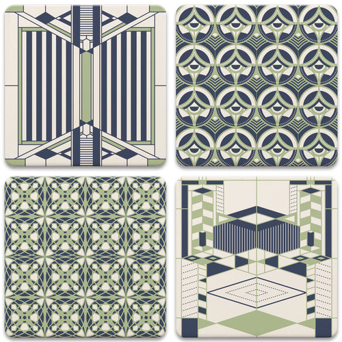 Frank Lloyd Wright Coasters Set Rhythms