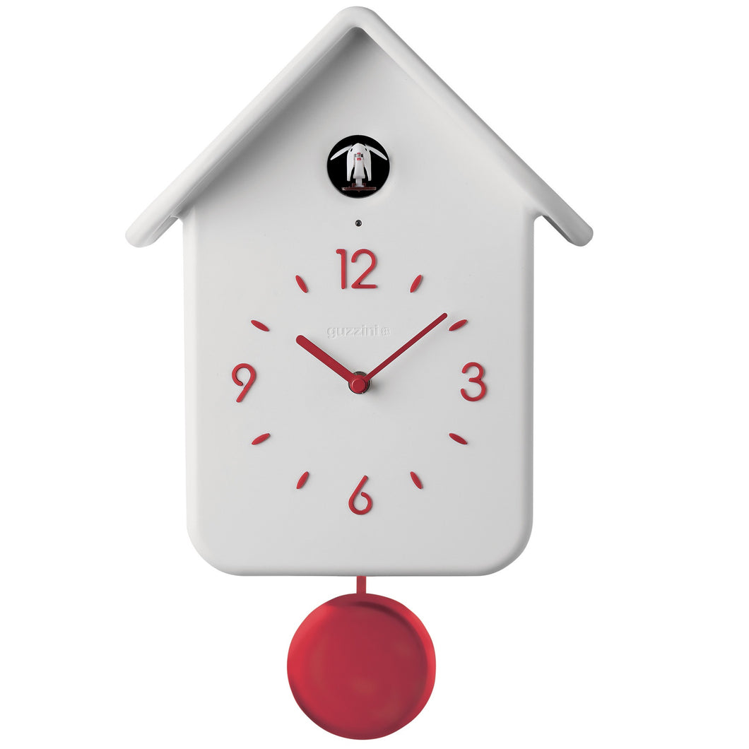 Guzzini QQ Cuckoo Clock W/Pendulum (More Colors)