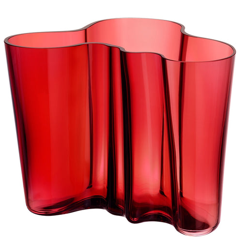 Iittala Alvar Aalto Collection Glass Vase, Cranberry 160mm