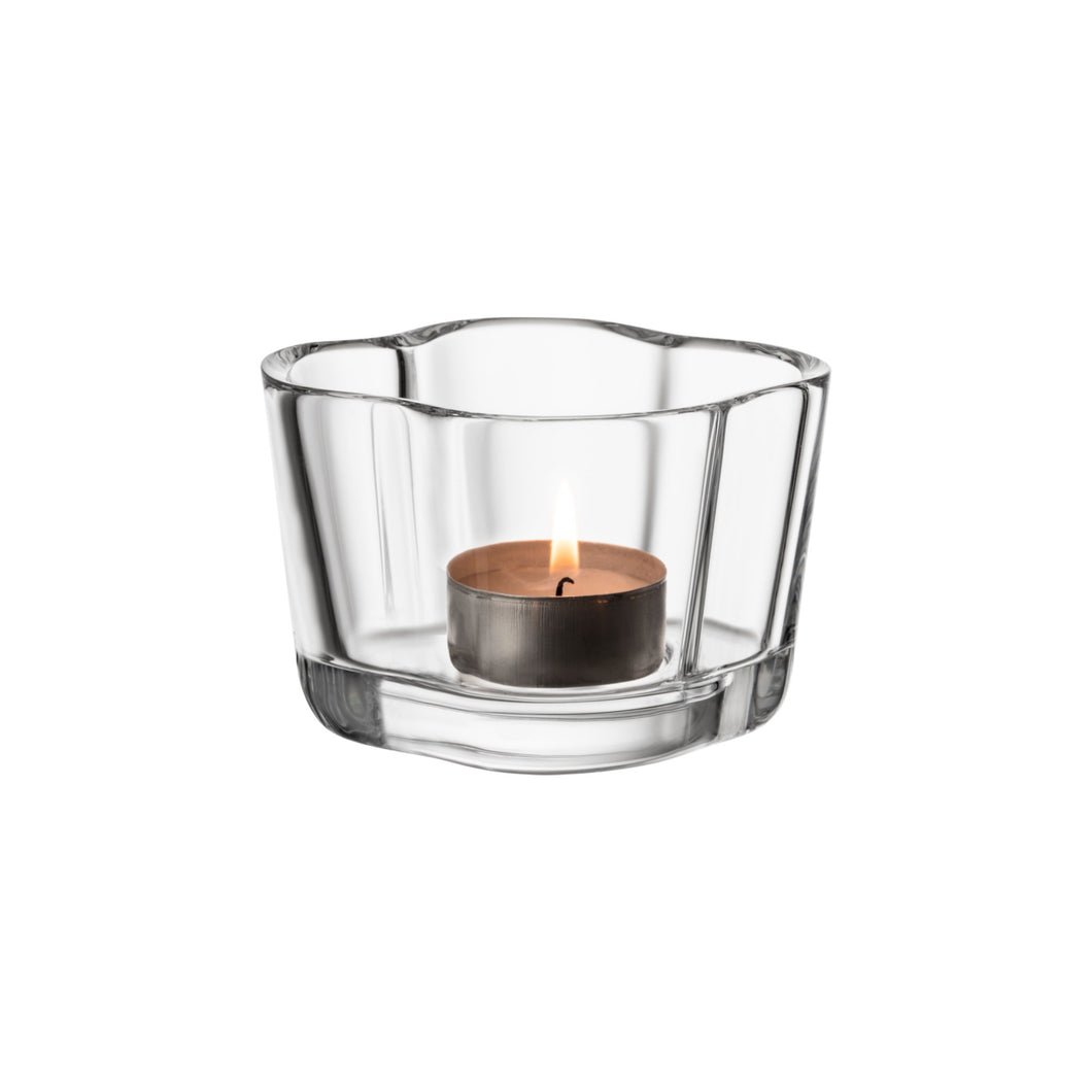 Iittala Aalto Votive Tealight Candle Holder Clear