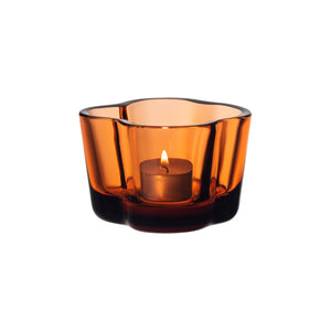 Iittala Aalto Votive Tealight Candle Holder Orange