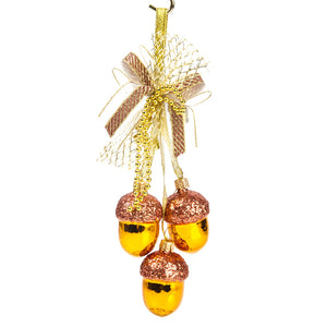 Glass Christmas Acorn Garland