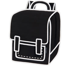 JumpFromPaper Backpack Graffiti Black