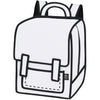 JumpFromPaper Backpack Graffiti White