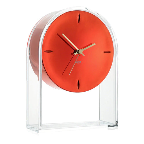 Kartell Air Du Temps Clock Crysal/Red