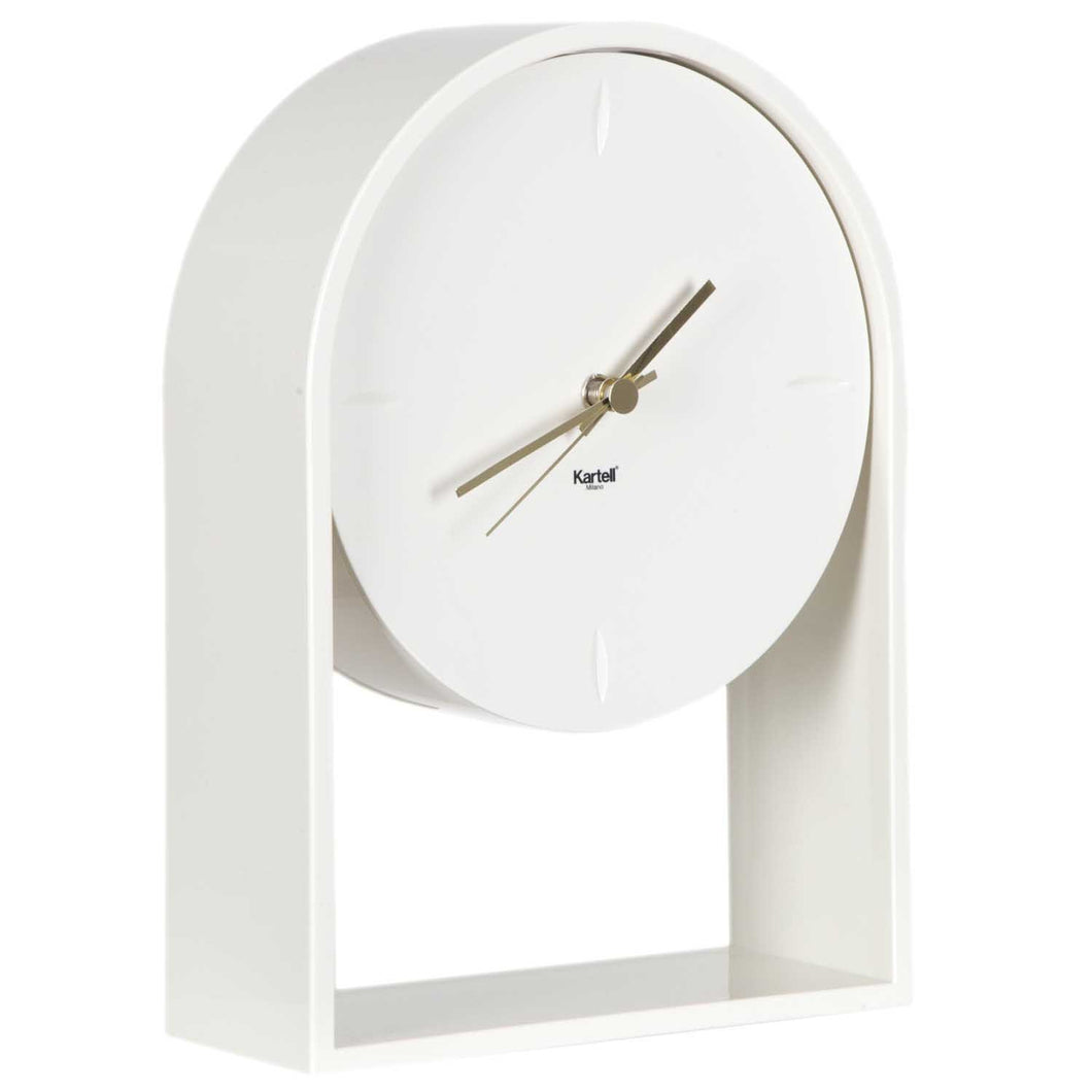 Kartell Air Du Temps clock in white opaque PMMA.