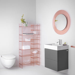 Kartell All Saints Wall Mirror Nude Pink