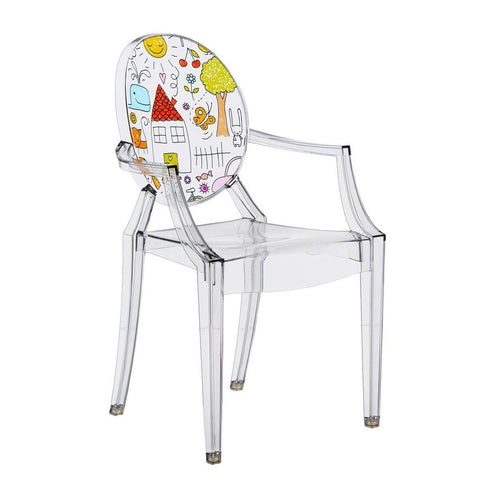 kartell ghost chair for kids drawing