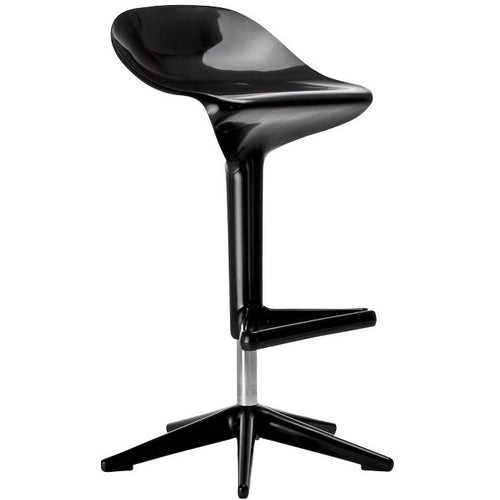 Kartell Spoon Bar Stool Black by Antonio Citterio (2003)