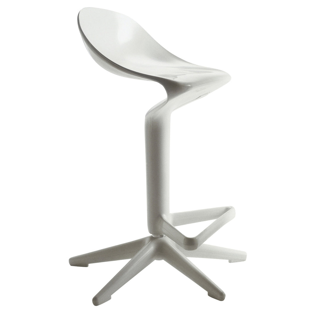 Kartell Spoon Bar Stool White by Antonio Citterio (2003)