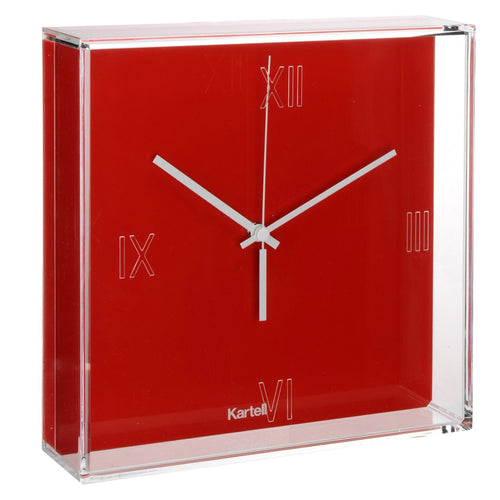 Kartell Tic & Tac Wall/Table Clock Red
