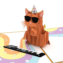 Lovepop 3D Greeting Card Party Cat