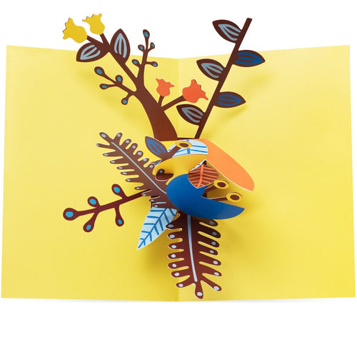 Pop-Up Note Cards Playful Leaves