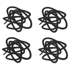 Modern Accents Silicone Coasters Doodle Set of 4