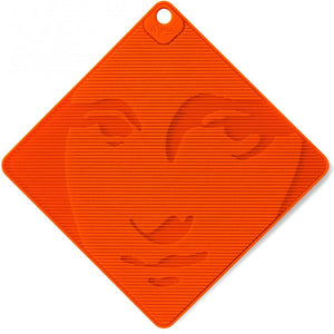 Mona Lisa Silicone Grip and Trivet Orange